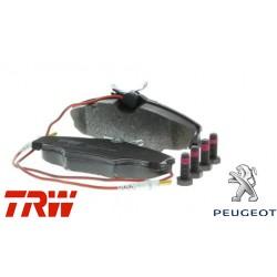 Jeu de 4 plaquettes de frein (plaquette de frein) TRW - GDB1193