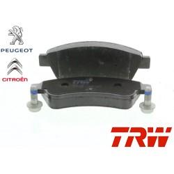 Jeu de 4 plaquettes de frein (plaquette de frein) TRW - GDB1463