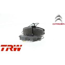 Jeu de 4 plaquettes de frein (plaquette de frein) TRW - GDB114
