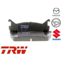 Jeu de 4 plaquettes de frein (plaquette de frein) TRW - GDB887