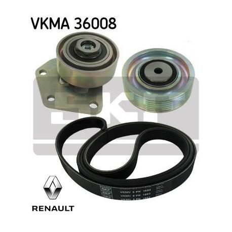 kit de courroie d 39 accessoire skf vkma36008 injecteur direct. Black Bedroom Furniture Sets. Home Design Ideas