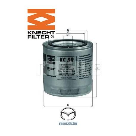 filtre carburant knecht filter kc59 injecteur direct. Black Bedroom Furniture Sets. Home Design Ideas