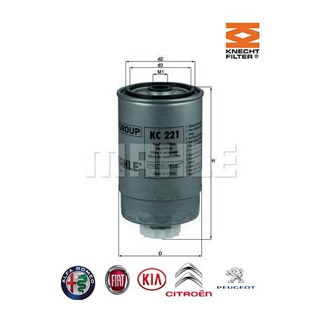 filtre carburant knecht filter kc221 injecteur direct. Black Bedroom Furniture Sets. Home Design Ideas