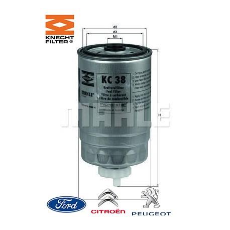 filtre carburant knecht filter kc38 injecteur direct. Black Bedroom Furniture Sets. Home Design Ideas